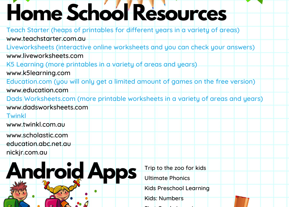 Home Schooling Resources