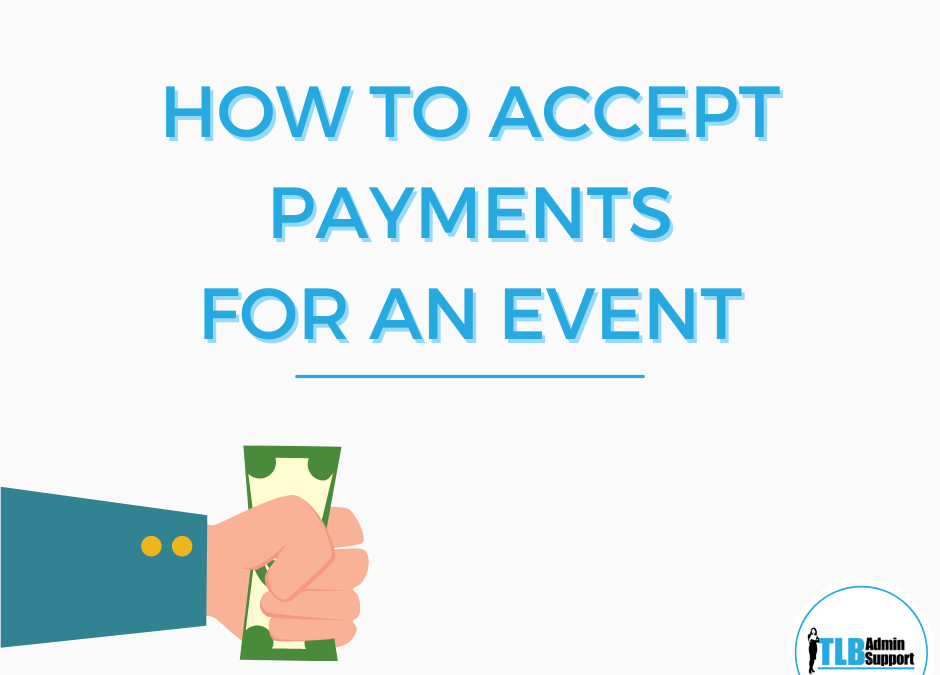 How to accept payment for an Event